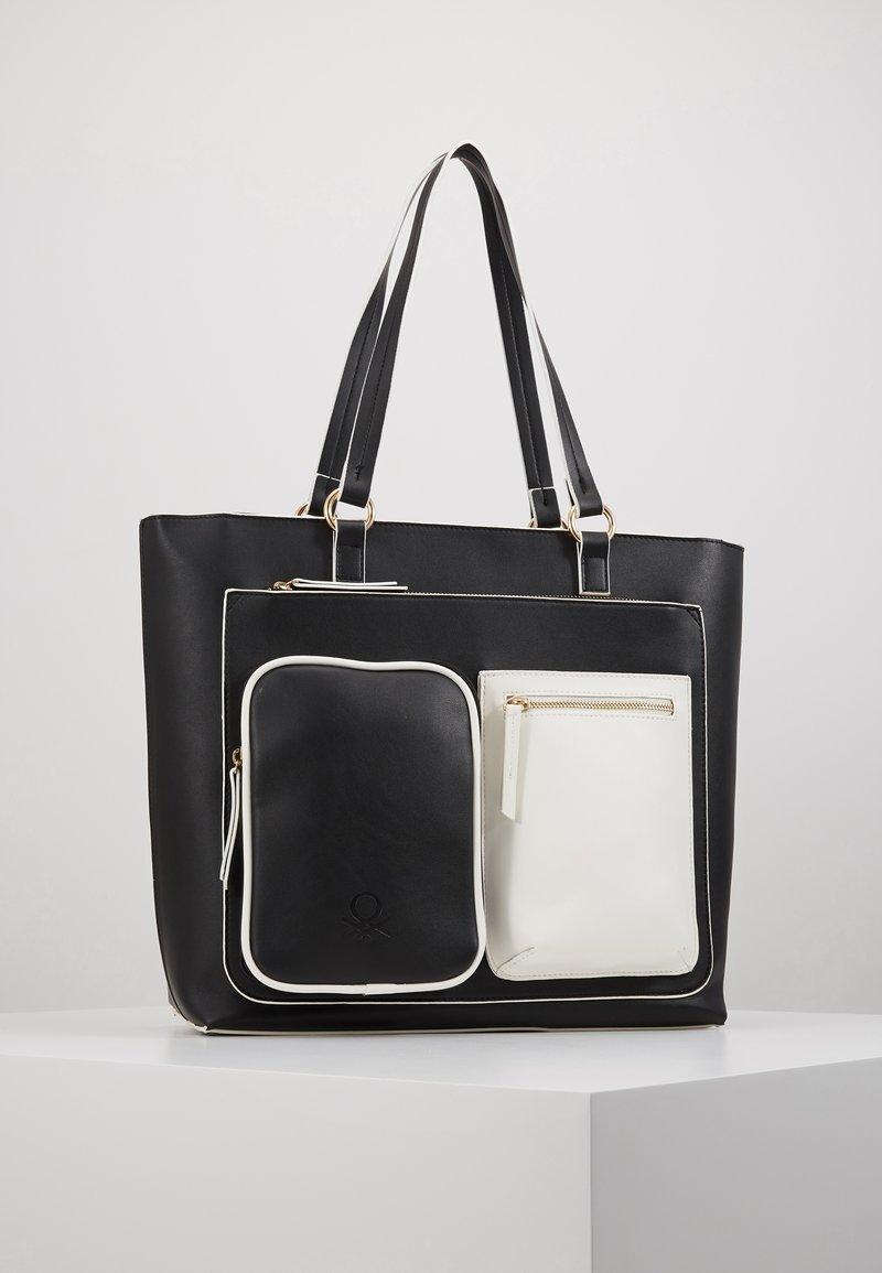 Benetton - Shopping Bag - black/white