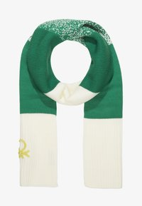 Benetton - SCARF - Šála - off-white/green - 0
