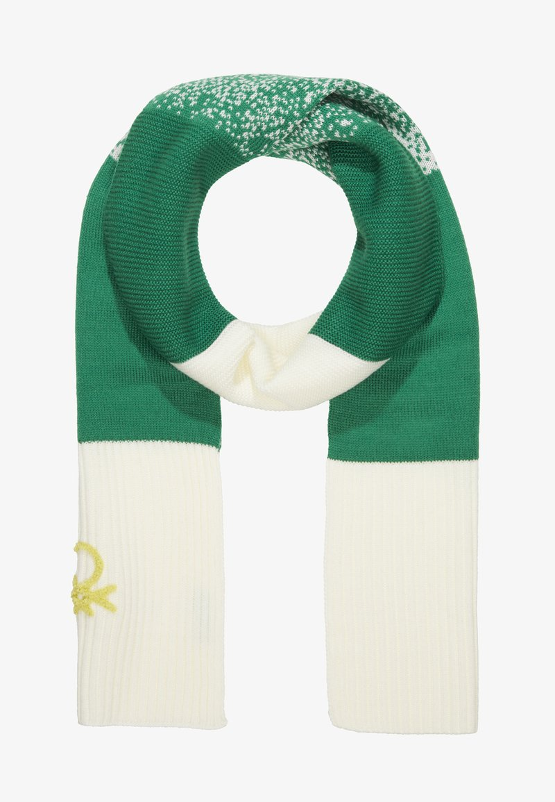 Benetton - SCARF - Šála - off-white/green
