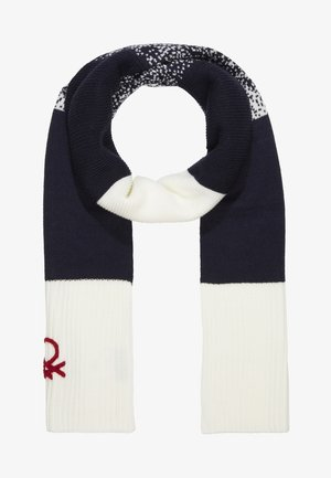 SCARF - Szal - off white/blue