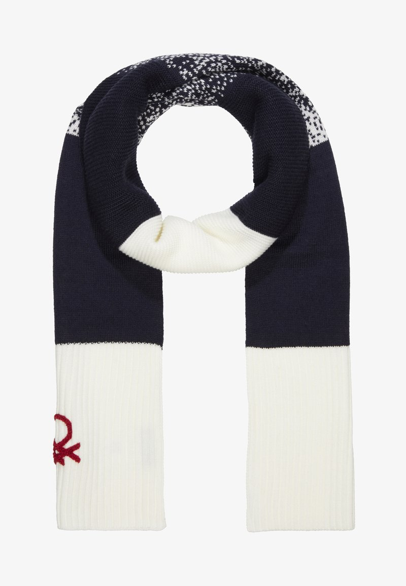 Benetton - SCARF - Sciarpa - off white/blue