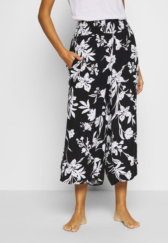 BOTTOM - Pyjamasbyxor - black/white