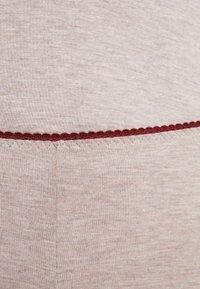Benetton - TROUSERS - Pyjamasbukse - melange beige/bordeaux - 4