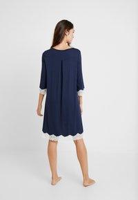 Benetton - NIGHT DRESS FLUID SLEEVES - Noční košile - blue - 2