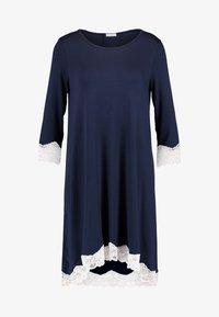 Benetton - NIGHT DRESS FLUID SLEEVES - Noční košile - blue - 3