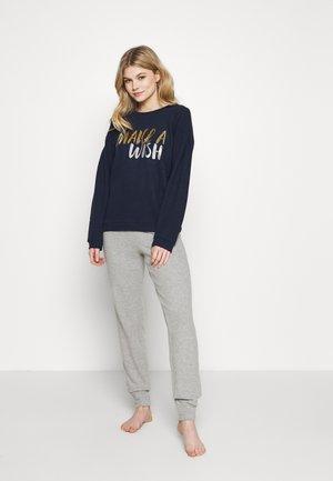 HEAVY BRUSHED EFFECT BOXY FIT SET - Pyjamas - grey melange