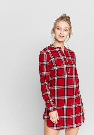WARM NIGHT SHIRT - Nightie - red tartan