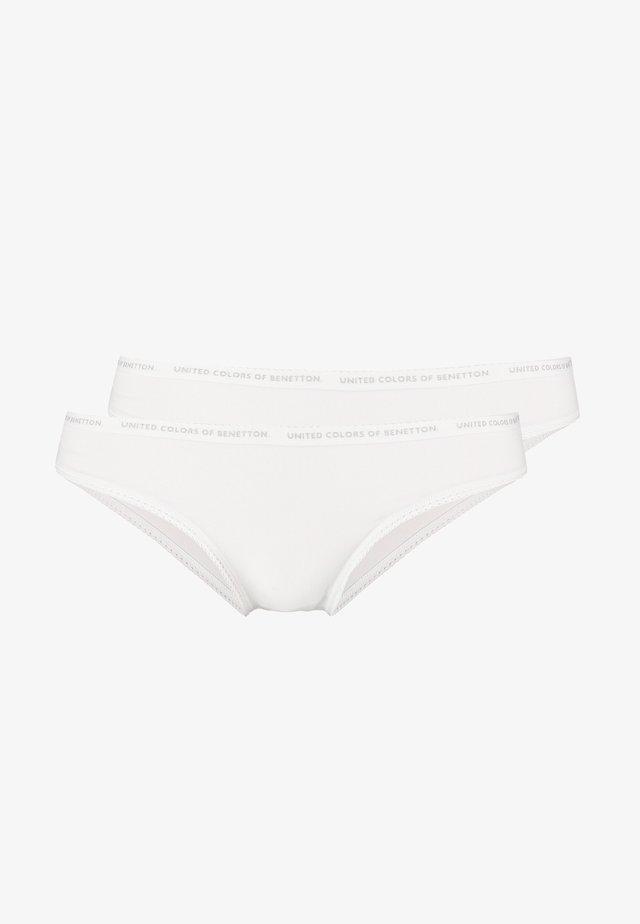BRIEF LOGO BAND 2 PACK - Figi - white