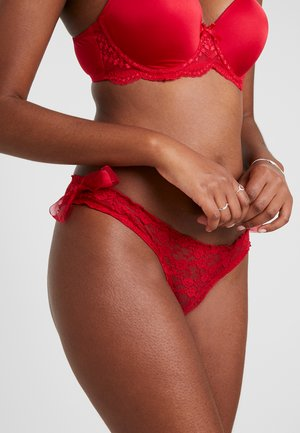 BRIEF WITH VOILE BOW ON SIDES - Slip - red