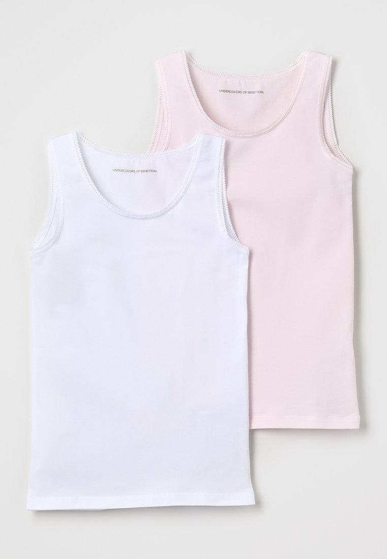 Benetton - 2 PACK - Undershirt - white, rose