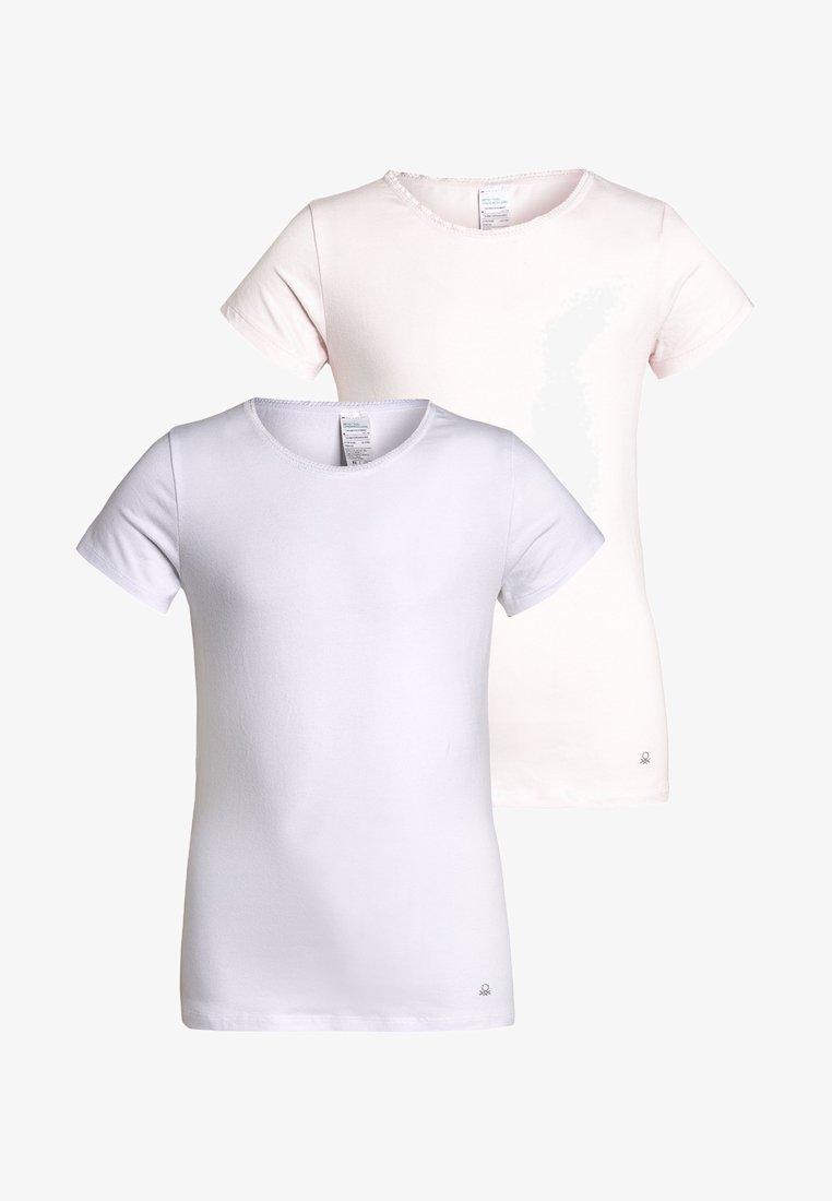 Benetton - 2 PACK - Camiseta interior - white