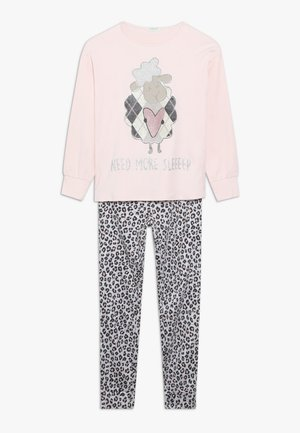 PYJAMA - Pijama - light pink/white/grey