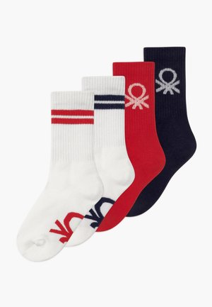 BASIC 4 PACK - Calcetines - white/red