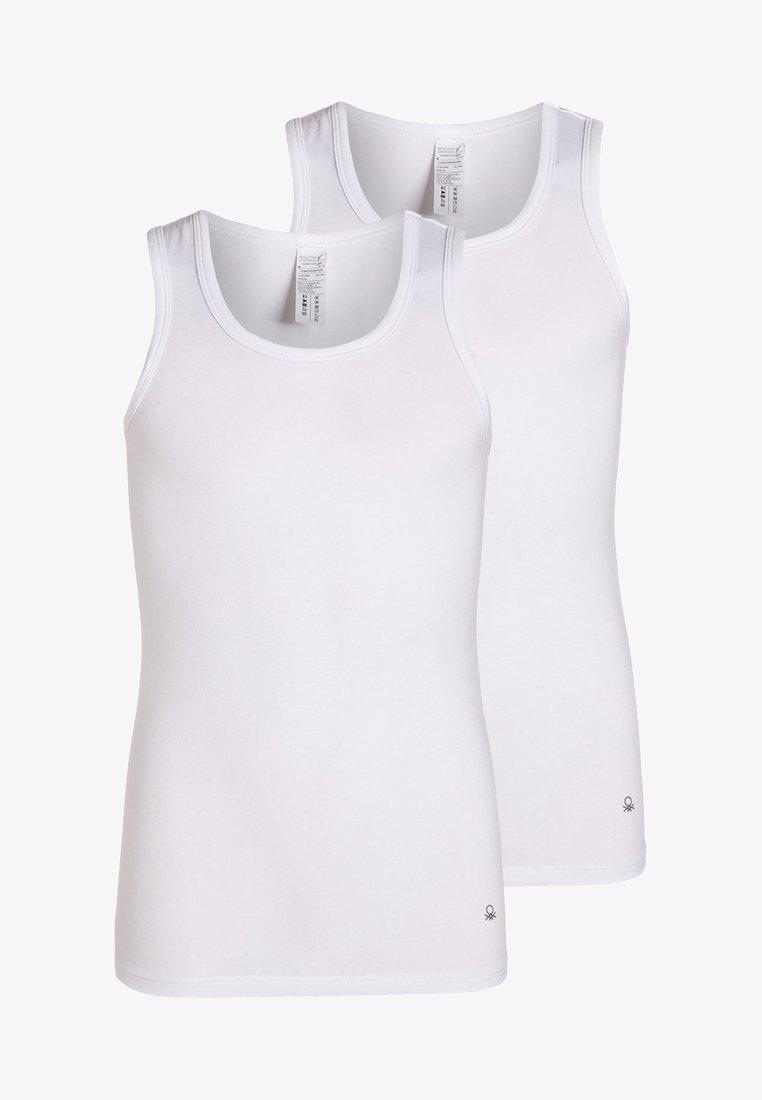 Benetton - 2 PACK - Unterhemd/-shirt - white