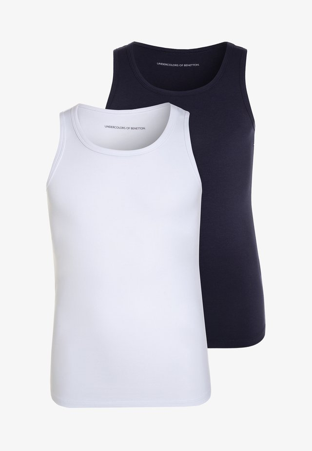 2 PACK - Unterhemd/-shirt - dark blue