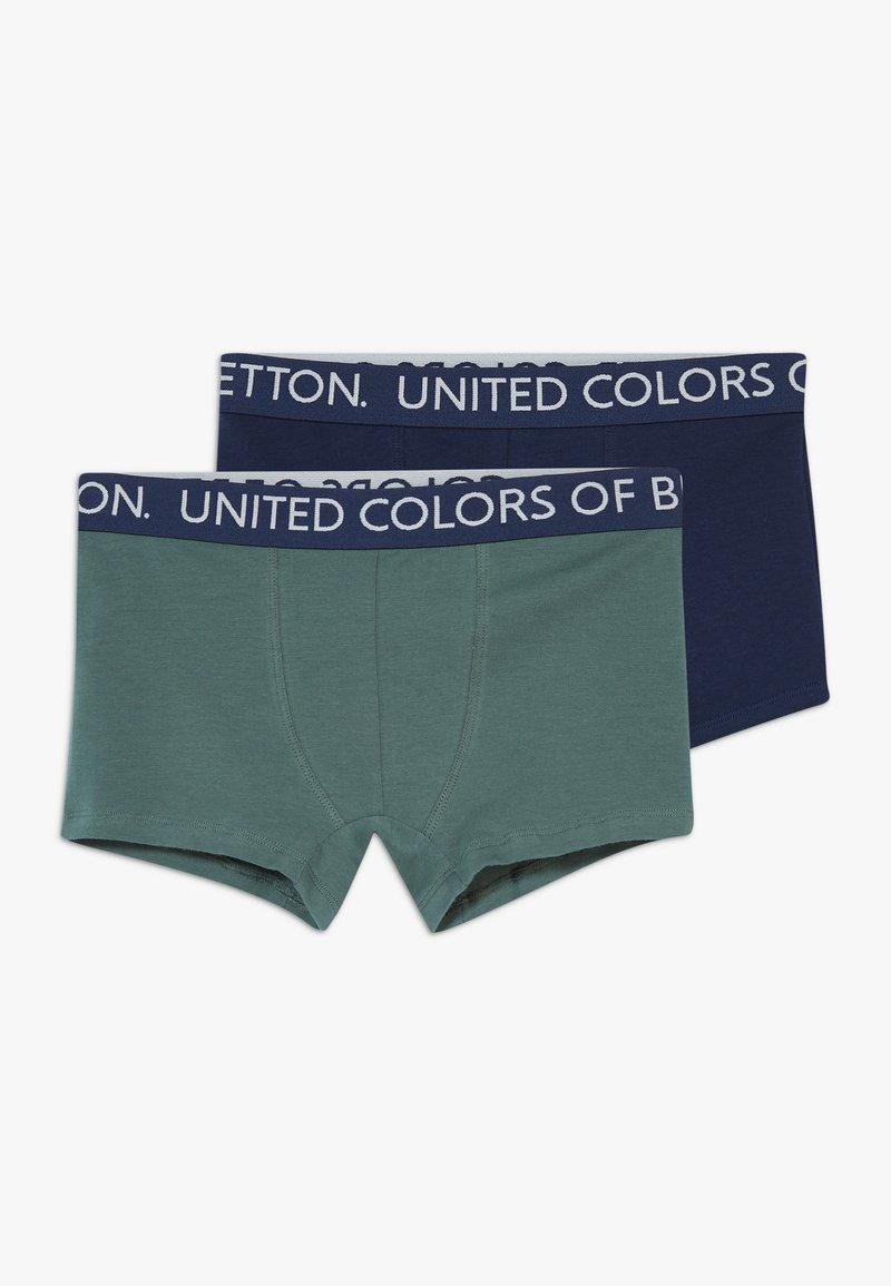 Benetton - 2 PACK - Pants - dark blue, dark blue