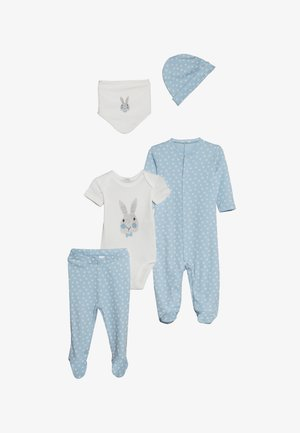 NEWBORN SET - Yöasusetti - light blue