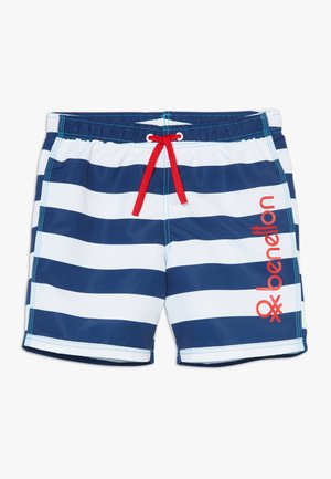 SWIM TRUNKS - Plavky - blue/white