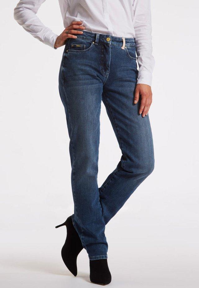 Straight leg jeans - denim blue washed