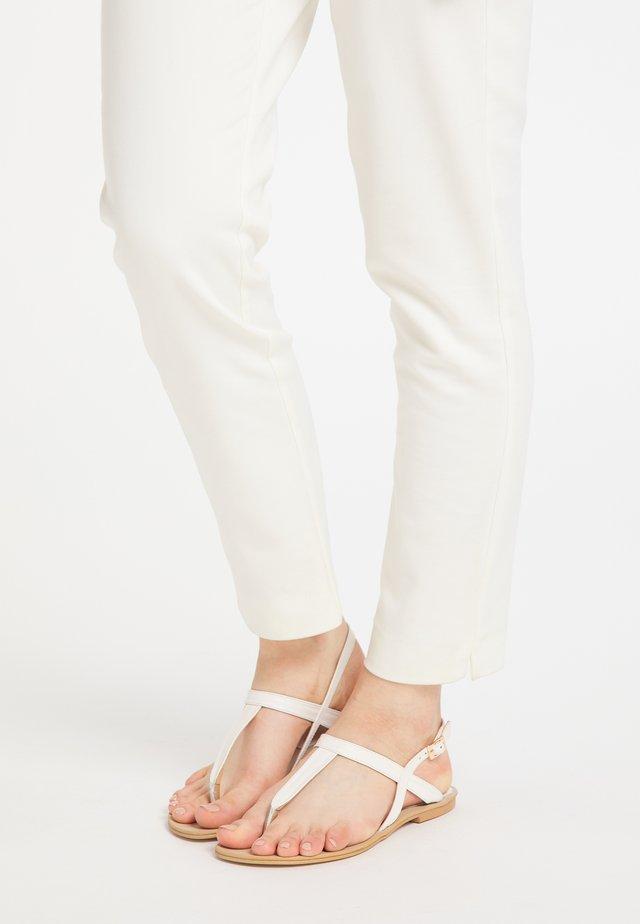 DREIMASTER  - T-bar sandals - elfenbein