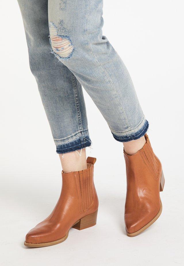 DREIMASTER  - Ankle boots - cognac
