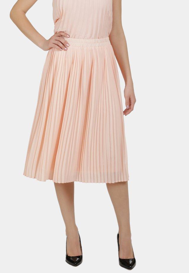 PLISSEE - A-line skirt - nude