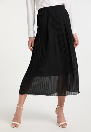 Falda plisada - schwarz