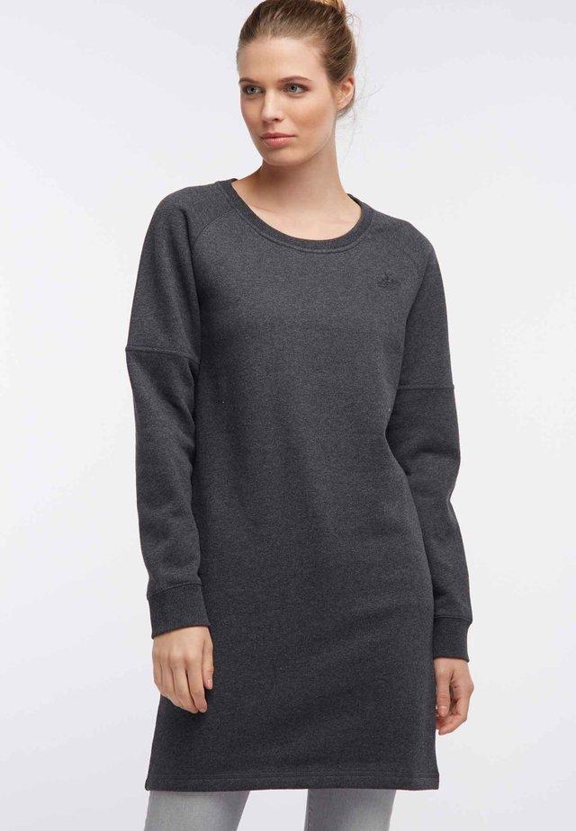 Korte jurk - mottled grey