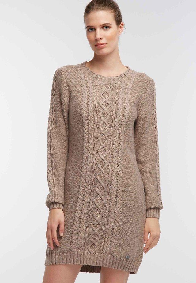 DREIMASTER  - Gebreide jurk - brown