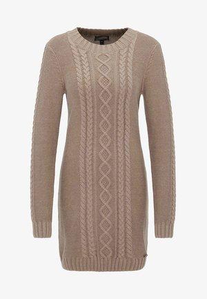 DREIMASTER  - Pletené šaty - brown