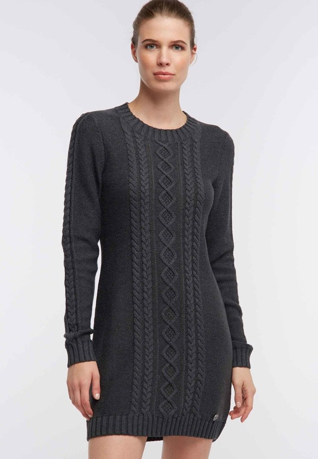 DREIMASTER  - Gebreide jurk - anthra melange