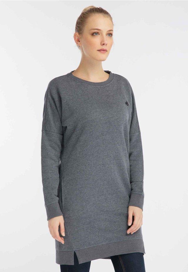 Collegepaita - navy/grey melange