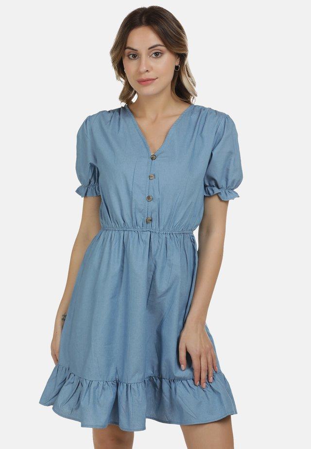 DREIMASTER KLEID - Spijkerjurk - blau