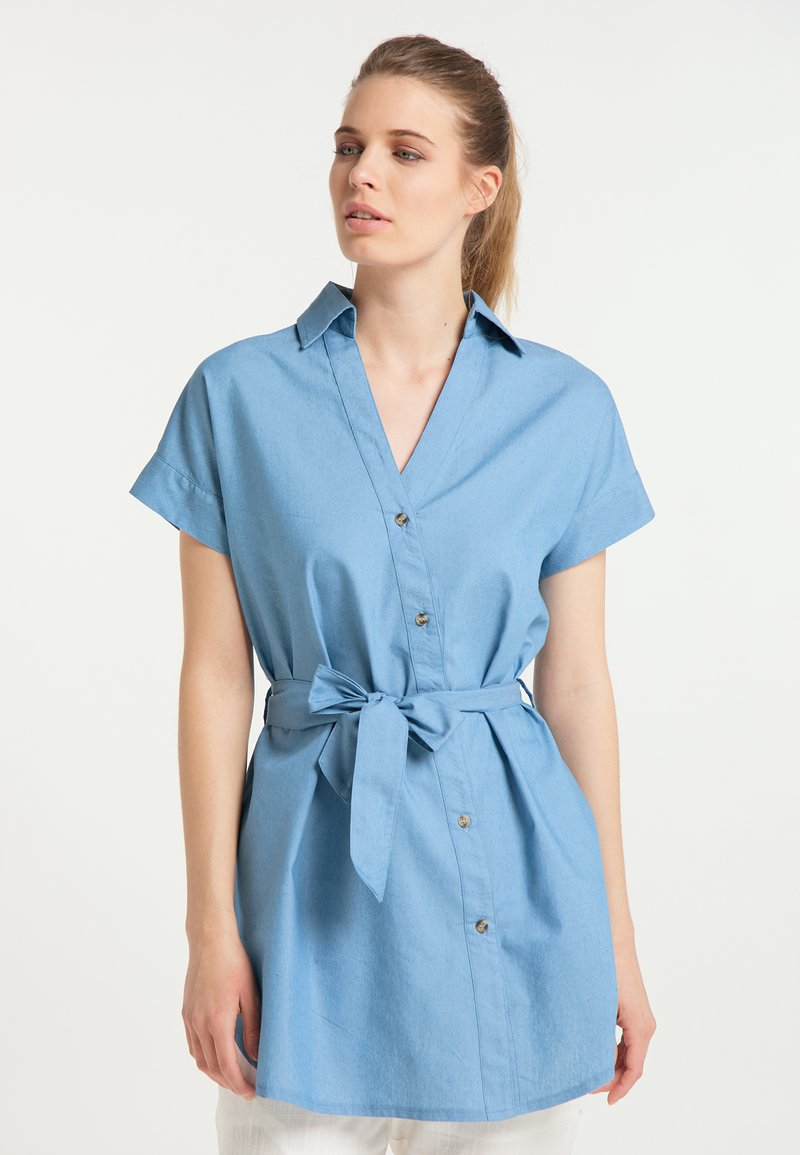 DreiMaster - Denim dress - blau