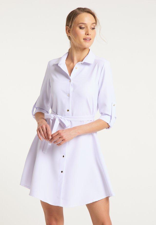 DREIMASTER BLUSENKLEID - Shirt dress - weiss