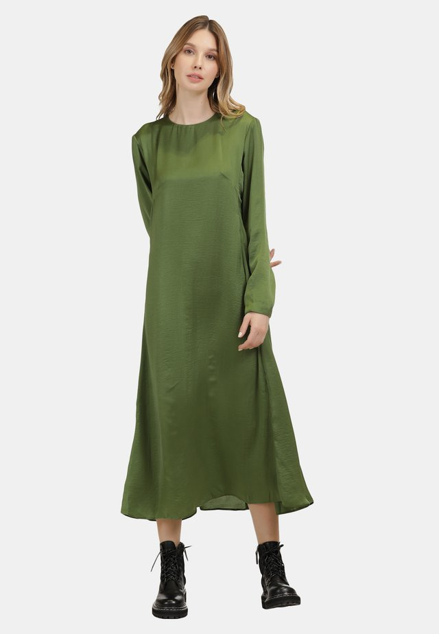 MIDI-KLEID - Korte jurk - oliv