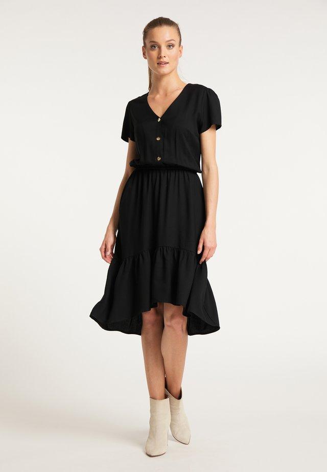DREIMASTER BLUSENKLEID - Shirt dress - schwarz