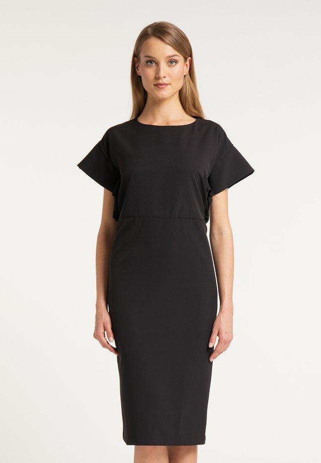 DREIMASTER MIDIKLEID - Etui-jurk - schwarz