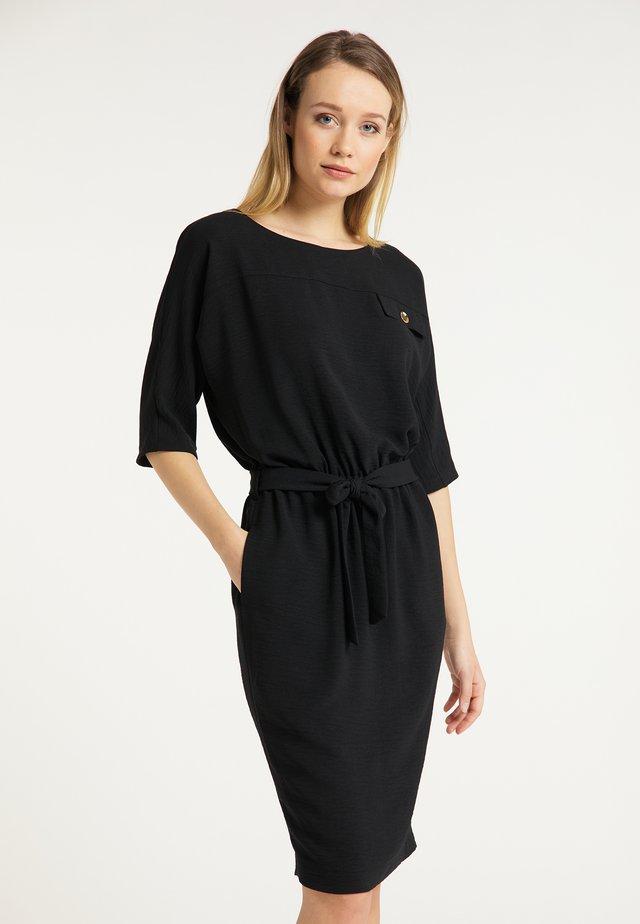 DREIMASTER FREIZEITKLEID - Korte jurk - schwarz silber