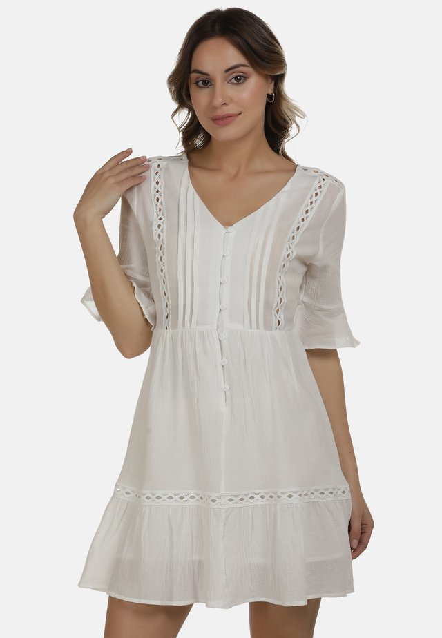 Shirt dress - wollweiss