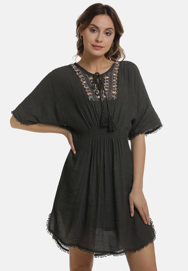 SOMMERKLEID - Korte jurk - taupe