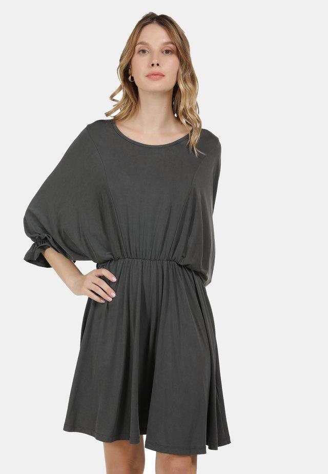 KLEID - Jersey dress - dunkelgrau