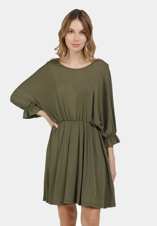 KLEID - Jersey dress - militär oliv