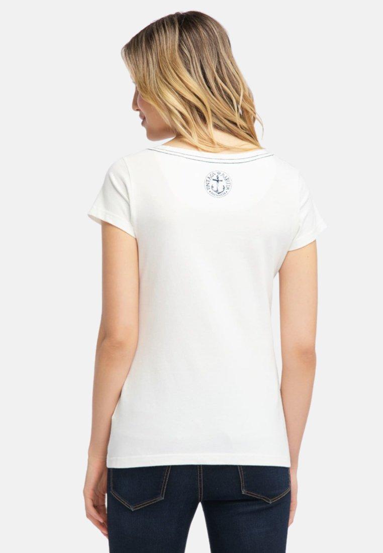 shirt Kleiner Dreimaster StickereiT Mit Imprimé White ordBxeC