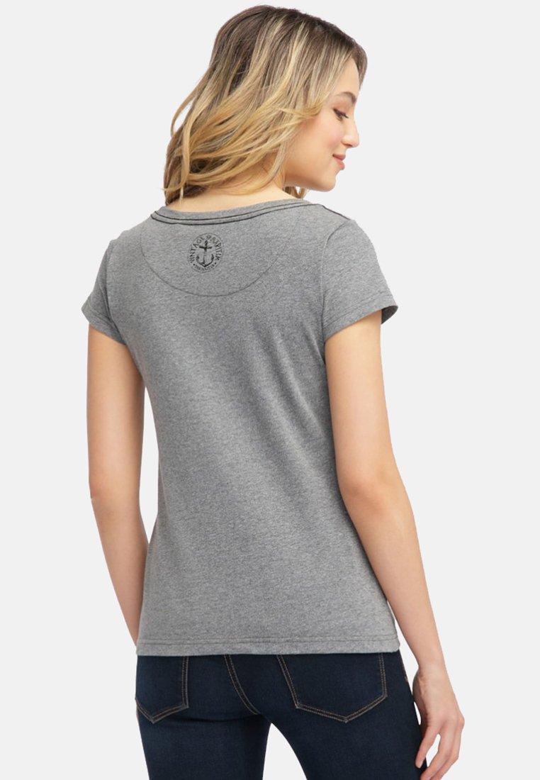 StickereiT Dreimaster Mit Kleiner Melange Imprimé Grey shirt OPkuwXZiTl