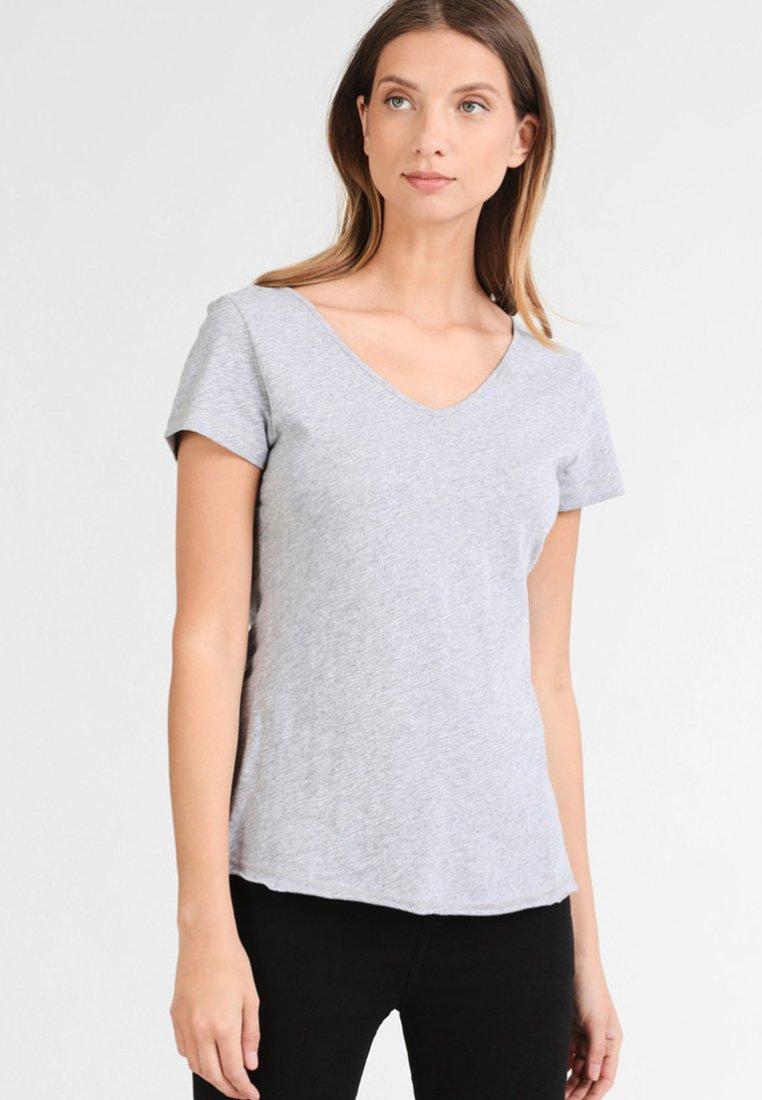 Dreimaster - T-shirt print - mottled grey