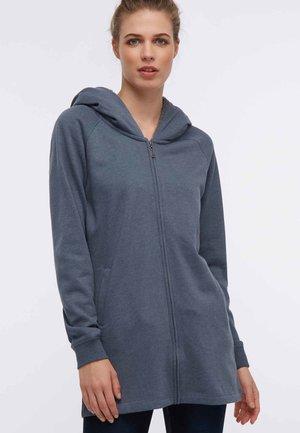 Mikina na zip - dark grey/blue
