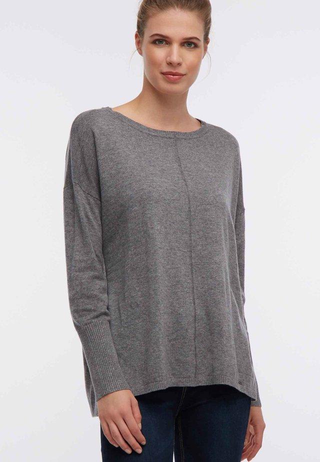 Sweter - mottled grey
