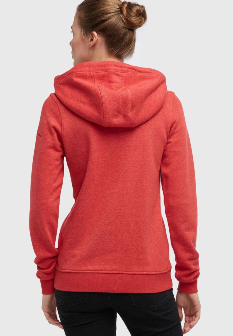 Dreimaster veste en sweat zippée dark red melange