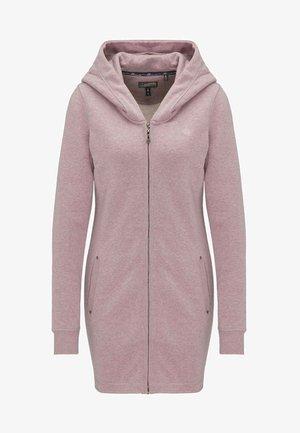 Hoodie met rits - mottled light pink